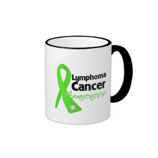 Lymphoma Cancer Awareness Ribbon Coffee Mugs