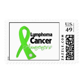 Lymphoma Cancer Awareness Ribbon Stamp