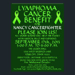 """Lymphoma Cancer Benefit Flyer<br><div class=""""desc"""">This beautiful lymphoma cancer benefit flyer is perfect for advertising a cancer benefit and auction once you personalize with all your own benefit details in the provided boxes. See our store for coordinating cancer benefit posters and also specific types of cancer benefit flyers. The back of this lymphoma cancer benefit...</div>"""