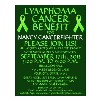 Lymphoma Cancer Benefit Flyer