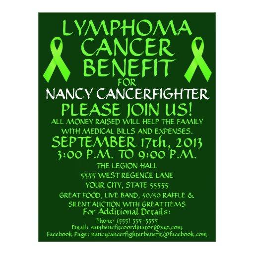 Lymphoma Cancer Benefit Flyer