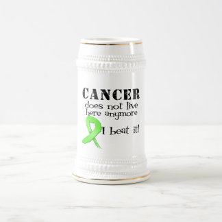 Lymphoma Cancer Does Not Live Here Anymore 18 Oz Beer Stein