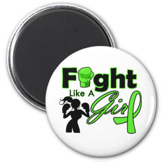 Lymphoma Cancer Fight Like A Girl Silhouette Magnets