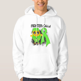 Lymphoma Cancer Fighter Chick Grunge Hoodie