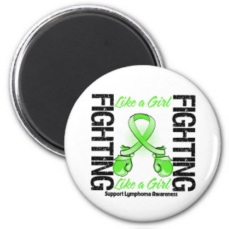 Lymphoma Cancer FIGHTING Like a Girl Refrigerator Magnets