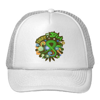 Lymphoma Cancer Groovy Fight Like A Girl Mesh Hats