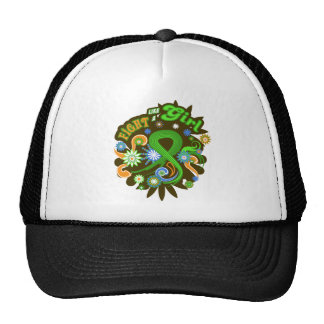Lymphoma Cancer Groovy Fight Like A Girl Mesh Hat
