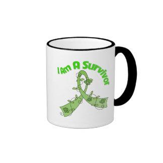 Lymphoma Cancer I Am A Survivor Ringer Coffee Mug