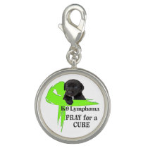 Lymphoma Cancer | Lime Green Cancer Ribbon | Blood Charm