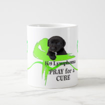 Lymphoma Cancer | Lime Green Cancer Ribbon | Blood Giant Coffee Mug