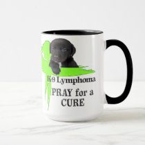 Lymphoma Cancer | Lime Green Cancer Ribbon | Blood Mug