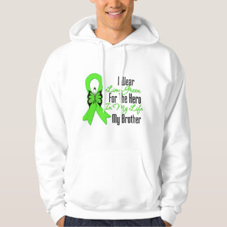Lymphoma Cancer Ribbon My Hero My Brother Sweatshirt