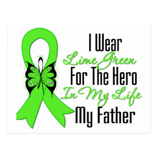 Lymphoma Cancer Ribbon My Hero My Father Postcard