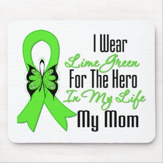 Lymphoma Cancer Ribbon My Hero My Mom Mouse Mat