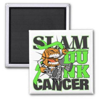 Lymphoma Cancer - Slam Dunk Cancer Refrigerator Magnet