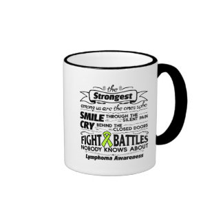 Lymphoma Cancer Strongest Among Us Ringer Mug