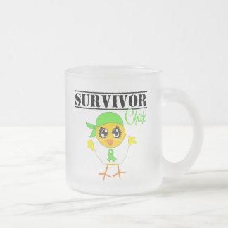 Lymphoma Cancer Survivor Chick 10 Oz Frosted Glass Coffee Mug