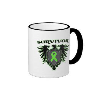 Lymphoma Cancer Survivor Crest Ringer Coffee Mug