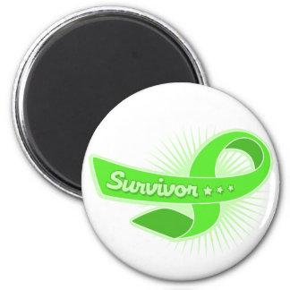 Lymphoma Cancer Survivor Ribbon Fridge Magnets