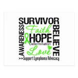 Lymphoma Cancer Survivors Motto Postcard