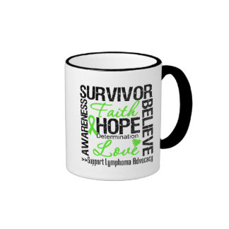 Lymphoma Cancer Survivors Motto Ringer Mug