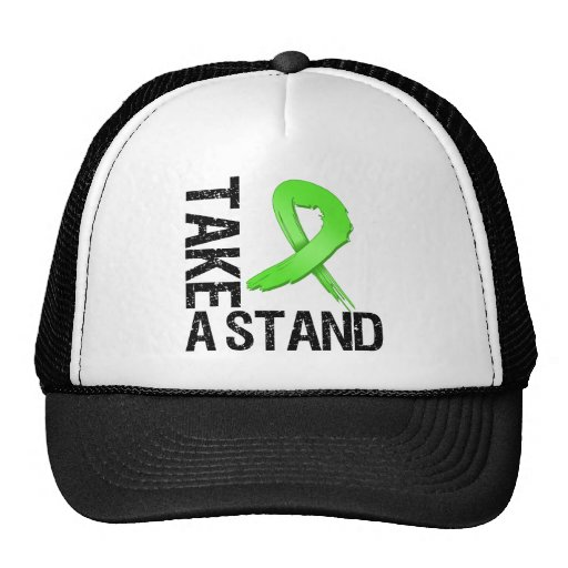 Lymphoma Cancer Take A Stand Mesh Hat