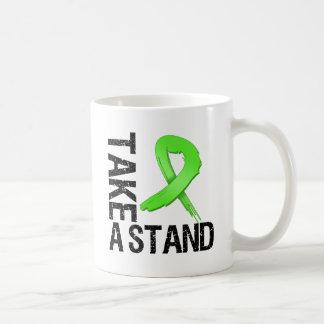 Lymphoma Cancer Take A Stand Classic White Coffee Mug