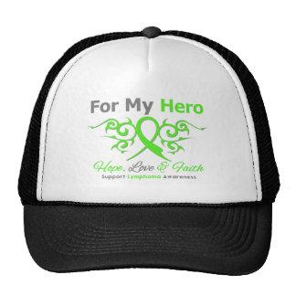 Lymphoma Cancer Tribal Ribbon Hero Mesh Hats