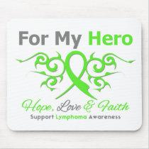 Lymphoma Cancer Tribal Ribbon Hero Mouse Pad