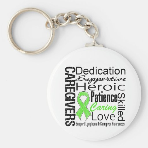 Lymphoma Caregivers Collage Keychains