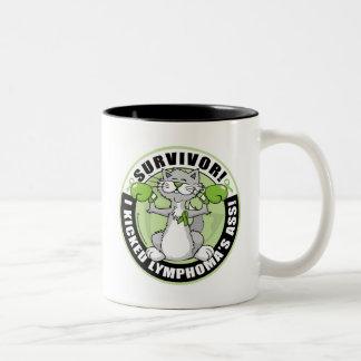 Lymphoma Cat Survivor Two-Tone Coffee Mug