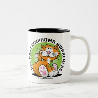 Lymphoma Cat Two-Tone Coffee Mug
