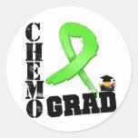 Lymphoma Chemo Grad Classic Round Sticker