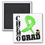 Lymphoma Chemo Grad Fridge Magnet