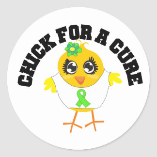 Lymphoma Chick For A Cure Round Stickers