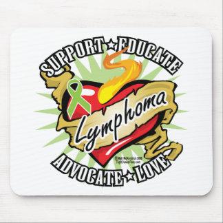 Lymphoma Classic Heart Mouse Pad
