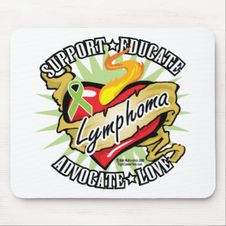 Lymphoma Classic Heart Mouse Pad