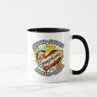 Lymphoma Classic Heart Mug