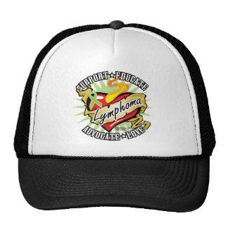 Lymphoma Classic Heart Trucker Hat
