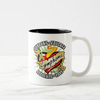 Lymphoma Classic Heart Two-Tone Coffee Mug