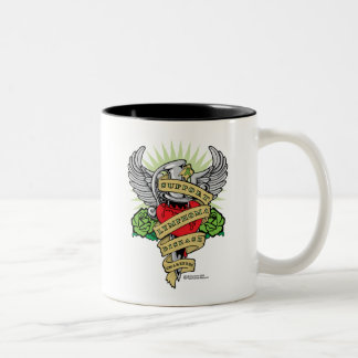 Lymphoma Dagger Two-Tone Coffee Mug