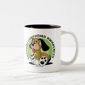 Lymphoma Dog Two-Tone Coffee Mug