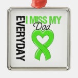 Lymphoma Everyday I Miss My Dad Square Metal Christmas Ornament