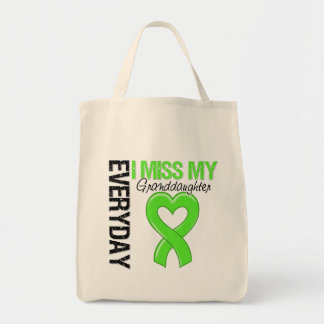 Lymphoma Everyday I Miss My Granddaughter Grocery Tote Bag