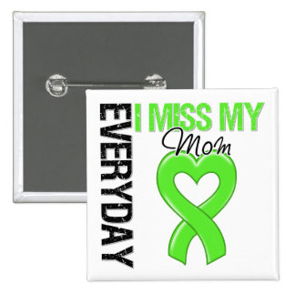 Lymphoma Everyday I Miss My Mom 2 Inch Square Button