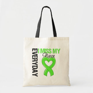 Lymphoma Everyday I Miss My Niece Budget Tote Bag