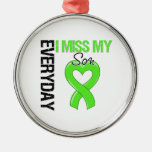 Lymphoma Everyday I Miss My Son Round Metal Christmas Ornament