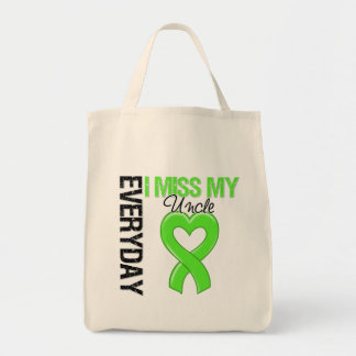 Lymphoma Everyday I Miss My Uncle Grocery Tote Bag
