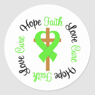 Lymphoma Faith Hope Love Cross Stickers