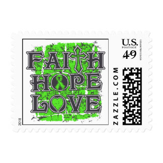 Lymphoma Faith Hope Love Stamp
